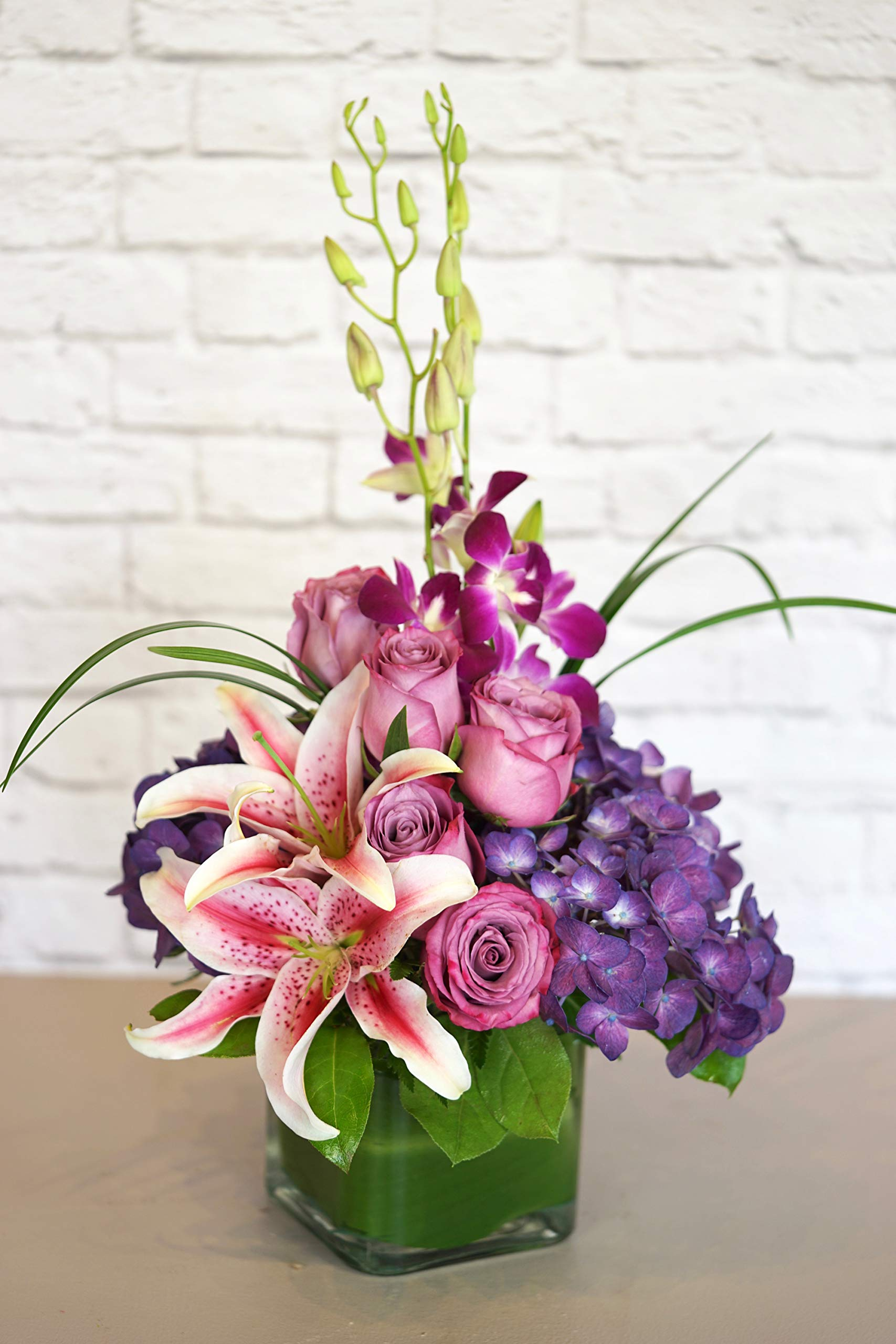 Purples in Paris - Fresh Flowers Hand Delivered