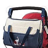 SoHo Animals Diaper Tote Bag 10Pc, Elephants Blue