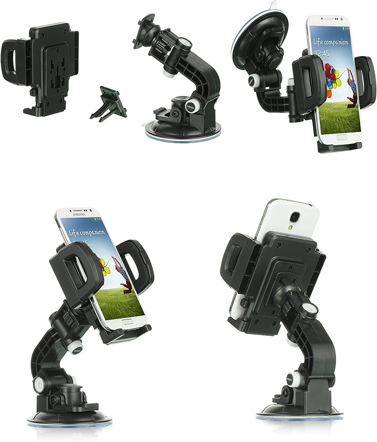 Car Mount Moto Z Droid Droid Heavy Duty Car Mount Mobile Phone Holder Touch Windshield Dashboard Car Mount Holder for Motorola Moto Z Droid