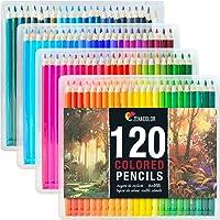 120 Kleurpotloden (genummerd) met plastic doosje - 120 Unieke kleurpotloden en voorgeslepen kleurpotloden voor kleurboek