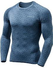 TSLA Men's Thermal Wintergear Compression Baselayer Long Sleeve Top