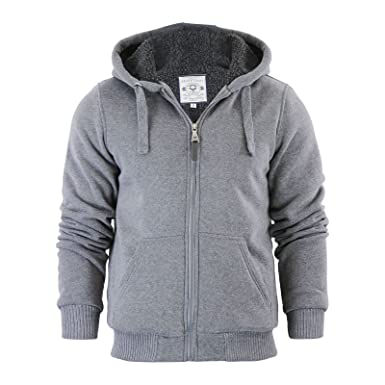 separation shoes 0fc31 554d8 Capo Clothing Mens Hoodie Brave Soul Zone Sherpa Fleece Lined Zip Up Hooded  Sweater