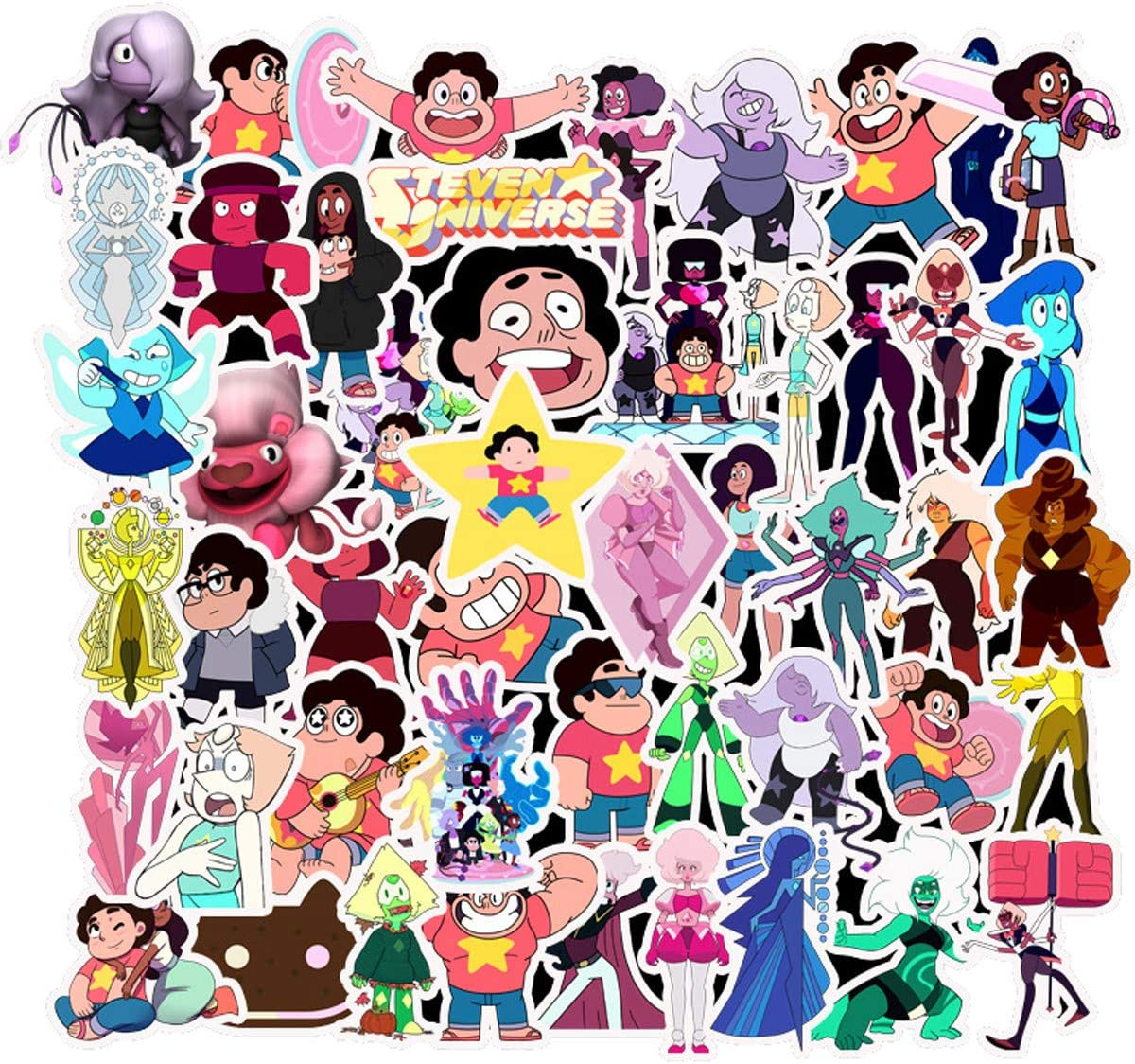 Decal Stickers 50 PCS Steven Universe Laptop Sticker Waterproof Vinyl Stickers Car Sticker Motorcycle Bicycle Luggage Decal Graffiti Patches Skateboard Sticker (Steven Universe)