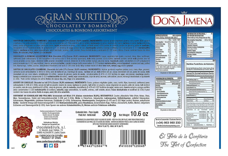 Surtido Chocolates Y Bombones Doña Jimena 300G: Amazon.es: Alimentación y bebidas