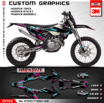2013 2014 XC XCF 150 250 300 350 GRAPHICS KIT FITS KTM DECO DECALS STICKERS MOTO