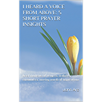 I heard a VOICE from above: 5 short prayer insights: brief moments of prayers, ordinary encounters, moving words of inspirations (English Edition)