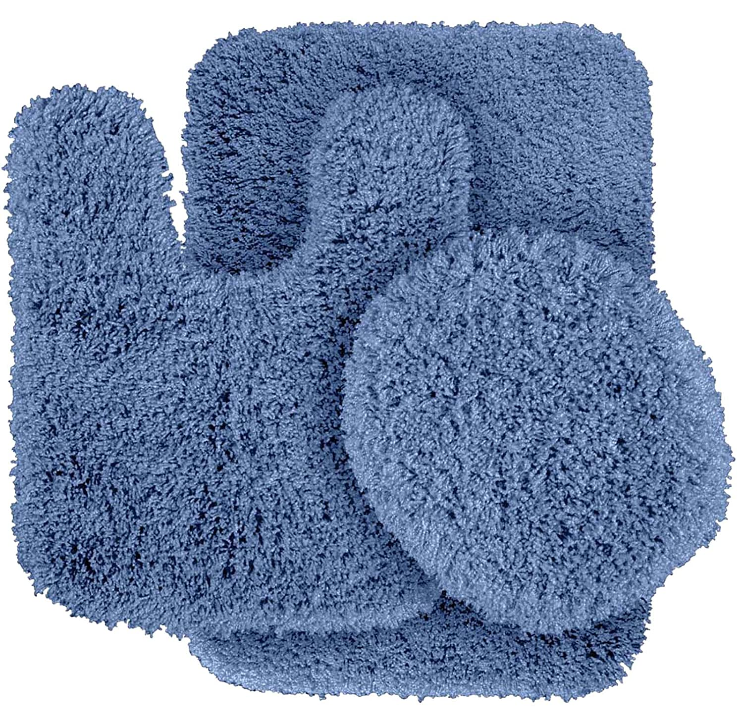 Basin bluee 3-Piece Set Garland Rug BA100W3P02I6 Serendipity Bath Rug Set, 3-Piece Set, Sea Foam