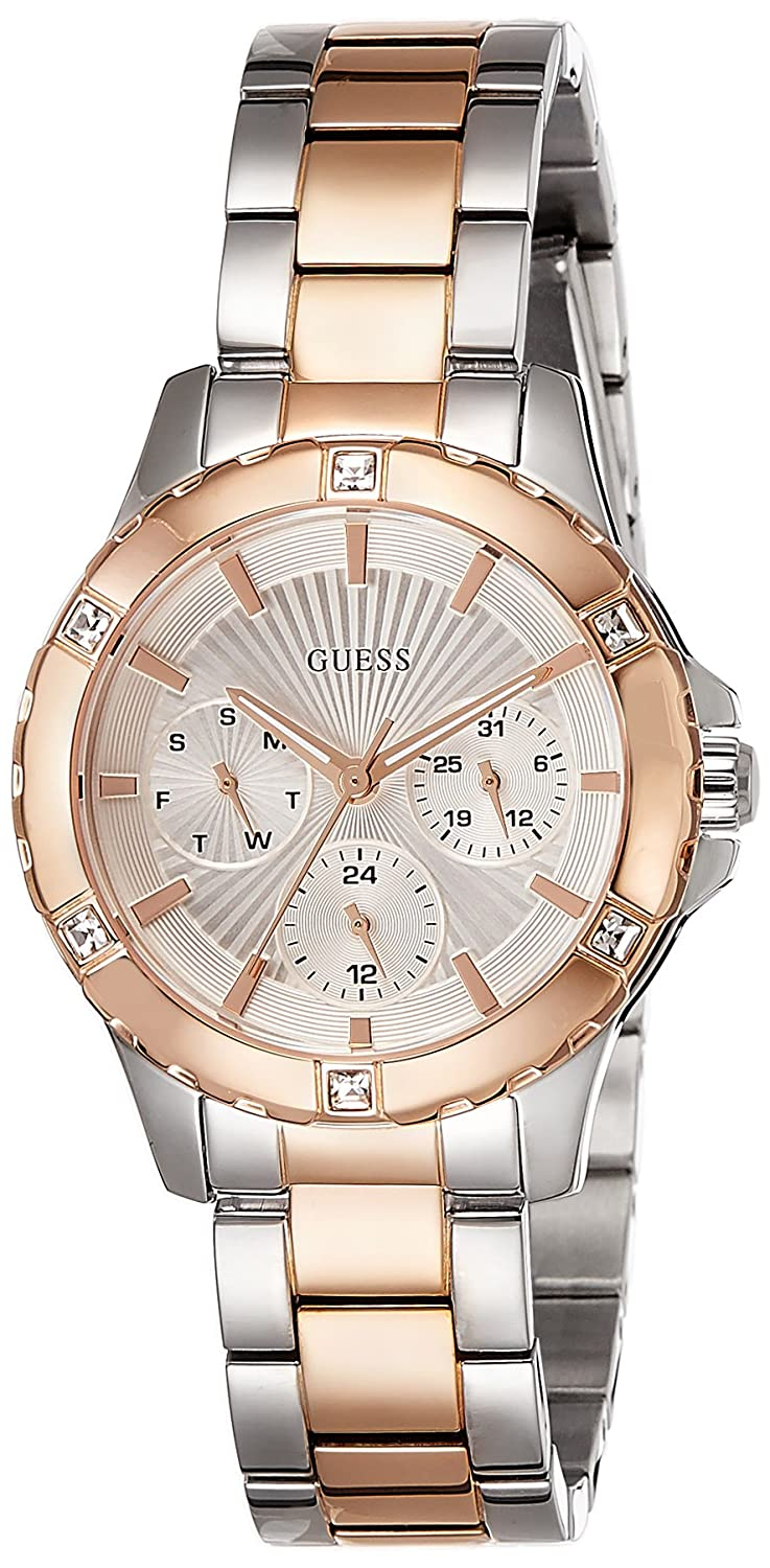 Amazon.com: Guess Silver Dial Stainless Steel Ladies Watch W0443L4: Guess: Watches