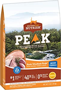 Rachael Ray Nutrish PEAK Nutrient Dense Dry Cat Food, Grain Free