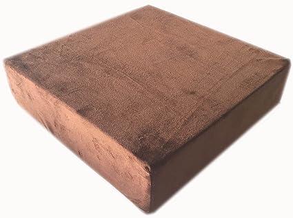 Kissen Sitzblock Bodenkissen Stuhlkissen Sitzerhöhung 40x40x10 TREND silber