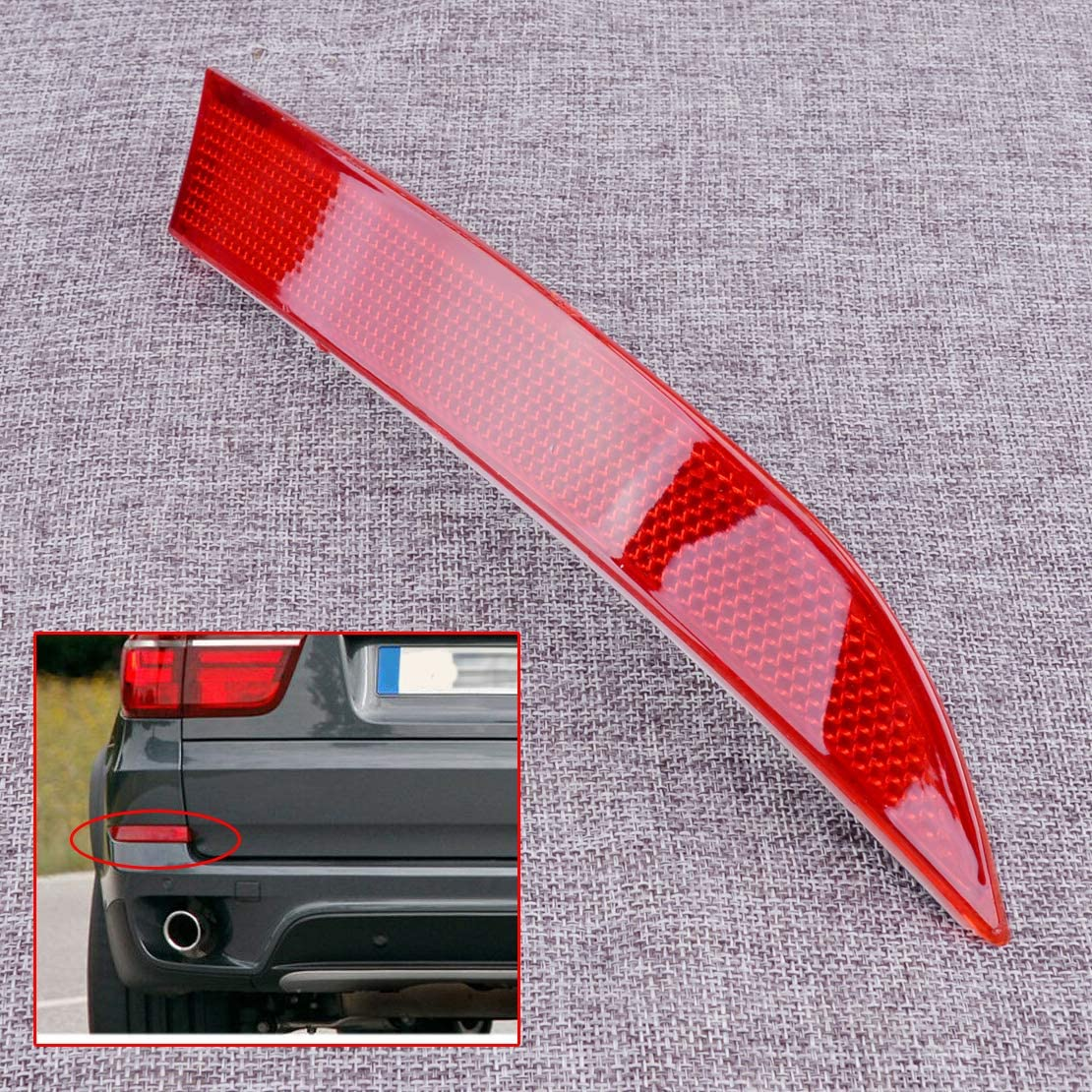 CITALL Left Rear Bumper Lens Reflector Cover Housing fit for BMW X5 E70 2011-2013 # 63147240997