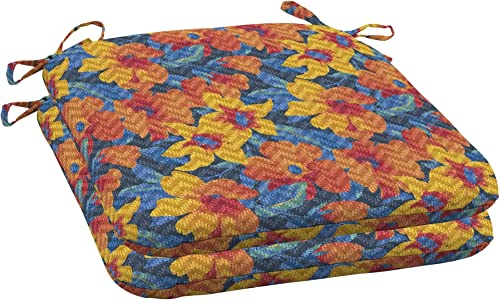 Arden Companies Arden Selections DriWeave Disco Floral Outdoor Seat Pad, Set of 2-18 in L x 19 in W x 2.5 in H