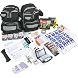 Emergency Zone Urban Survival Bug Out 4 Person Go Bag 72 Hour Emergency Disaster Kit. Now Includes a Bonus Tritan Bottle & Water Purification Straw! Be Prepared for Hurricanes, Earthquakes, More