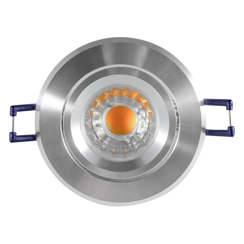 Caliban–Encastrable–3W COB LED, 280lumen, Blanc Froid–230V/GU10–Lot de 8 Moderne 3 Watt 280lumen Blanc Froid-230V/GU10-Lot de 8 Moderne 3 Watt LDD