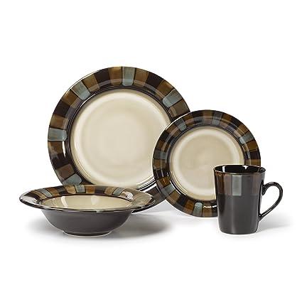 Pfaltzgraff Cayman 16-Piece Dinnerware Set Service for 4  sc 1 st  Amazon.com & Amazon.com | Pfaltzgraff Cayman 16-Piece Dinnerware Set Service for ...