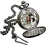 [森本産業]morimotosangyo 懐中時計 ジョジョの奇妙な冒険 ジョナサン チェーン付き シルバー RM-2779