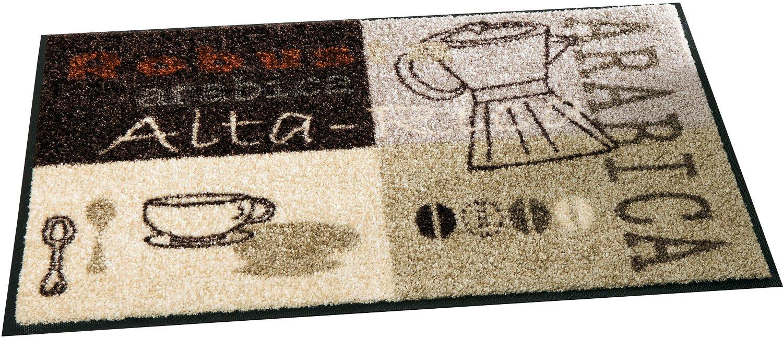 Wash+dry Fußmatte braun Größe 60x180 cm