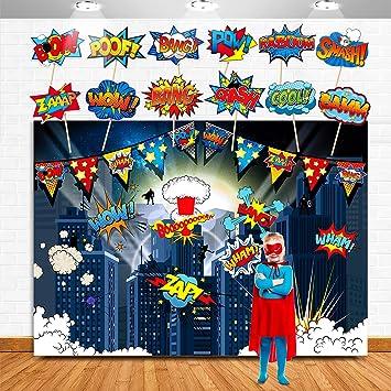 Superhelden Hintergrund Für Geburtstagspartys Superhelden Fotografie Hintergrund 12 Superhelden Foto Requisiten Für Kinder Superhelden Geburtstagsparty Dekorationen Spielzeug
