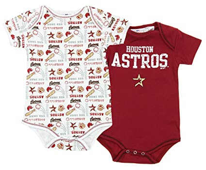 Amazon Com Houston Astros Mlb Unisex Baby Infants 2 Pack Bodysuit