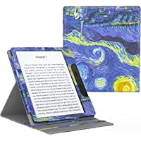 """MoKo Case for All-New Kindle Oasis (9th Generation, 2017 Release ONLY) - Multi Angle Viewing Vertical Flip Cover with Auto Wake/Sleep for Amazon 7"""" Kindle Oasis E-reader Case, Starry Night"""