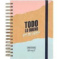 Mr. Wonderful Agenda clásica 2021-2022 Día por página - Todo lo bueno que me espera, Multicolor