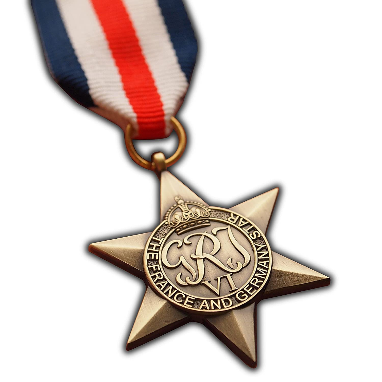 星の軍メダルフランスとドイツww2 Commonwealth British Military Award for | Army | Navy | RAF |レプリカジョージVI B01EO64INU