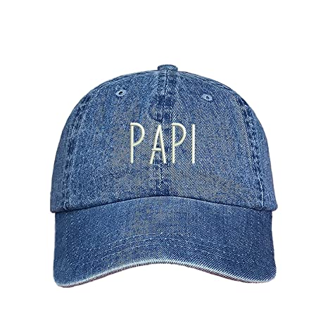 507f1bd6821 Amazon.com  Prfcto Lifestyle Papi Dad Hat - Father s Day Black Baseball Hat  - Unisex  Clothing