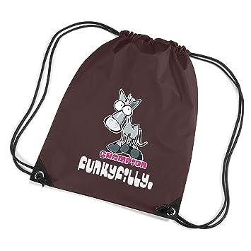 b1f1eb188d9 Funky Filly Pony Girls Champion Horse Rider Drawstring Bag Gym Swim Shoe Bag ,