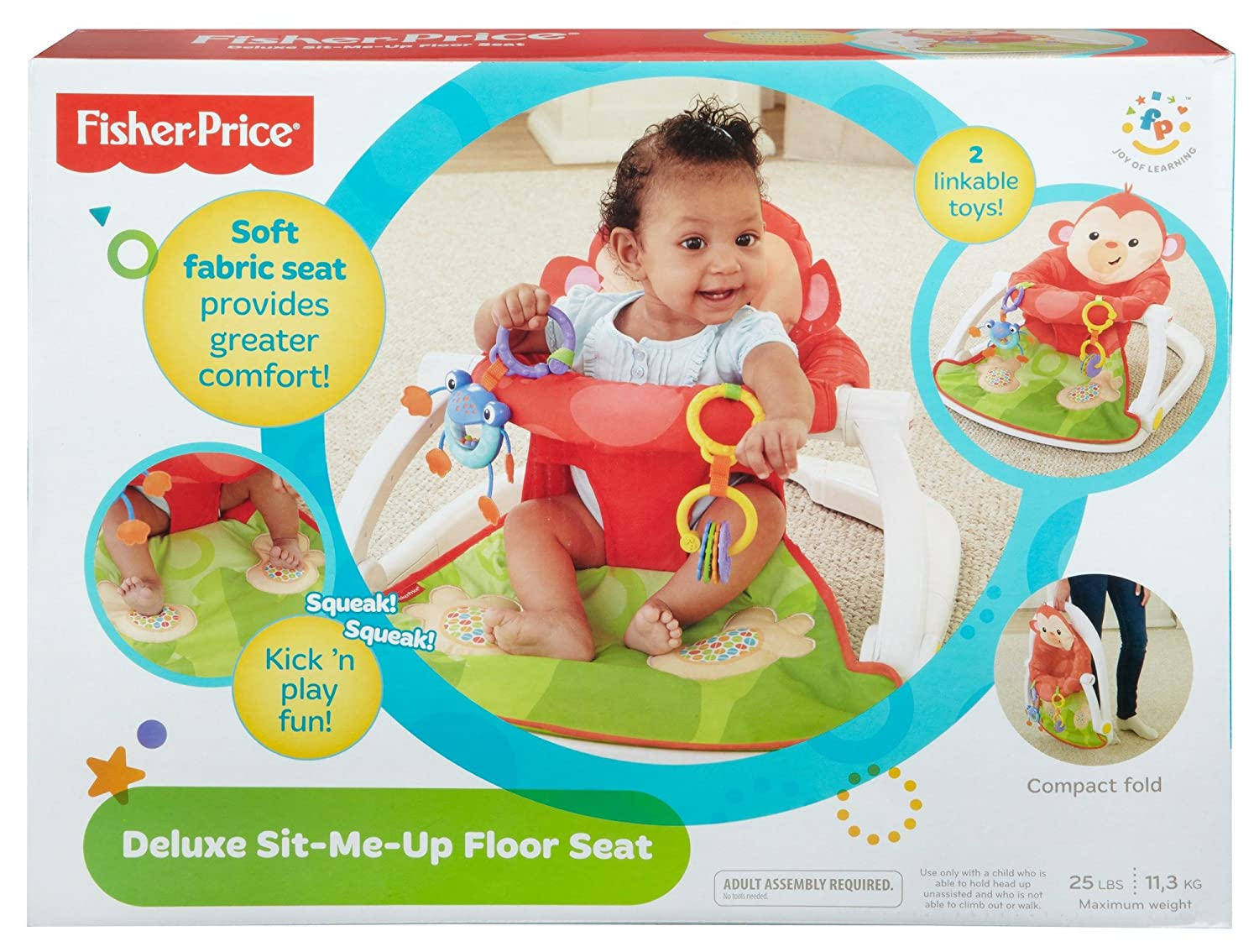 d0fc1cabcb32 Amazon.com   Fisher-Price Deluxe Sit-Me-Up Floor Seat   Infant ...