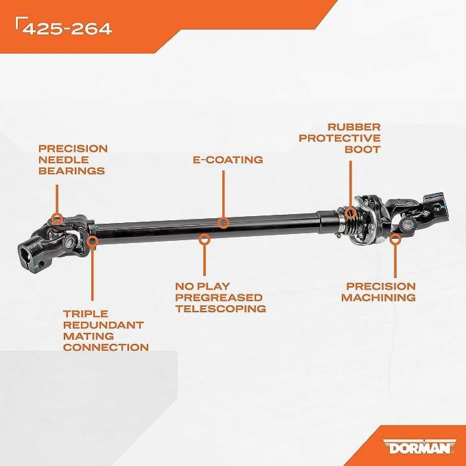 Dorman 425-904 Steering Shaft for Select Honda Models