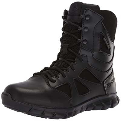 Reebok Women's Sublite Cushion Tactical RB806 Military & Tactical Boot, Black, 6 M US: Shoes