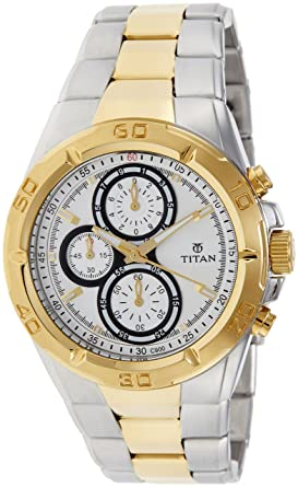 1094624c3 Titan Regalia Chronograph Analog Silver Dial Men s Watch -NK9308BM01