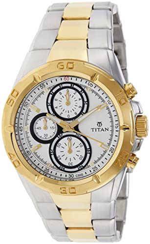 7741a51d67d Buy Titan Regalia Chronograph Analog Silver Dial Men s Watch -NK9308BM01  Online at Low Prices in India - Amazon.in