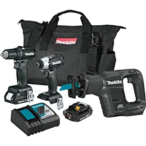 Makita CX300RB 18V LXT Lithium-Ion Sub-Compact Brushless Cordless 3-Pc. Combo Kit (2.0Ah)