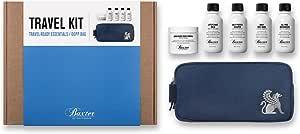 Baxter Of California Travel Kit: Face Wash + Shave Formula + Moisturizer + Shave Balm + Shampoo + Bag 5pcs+1bag