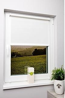 Schön Rollo Lichtdurchlässig Weiß Ohne Bohren Verschiedene Größen Klemmfix Ohne  Bohren Fensterrollo Für Kleine Und Große Fenster