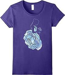 Disney Beauty & The Beast Belle Blue Rose Dress T-Shirt