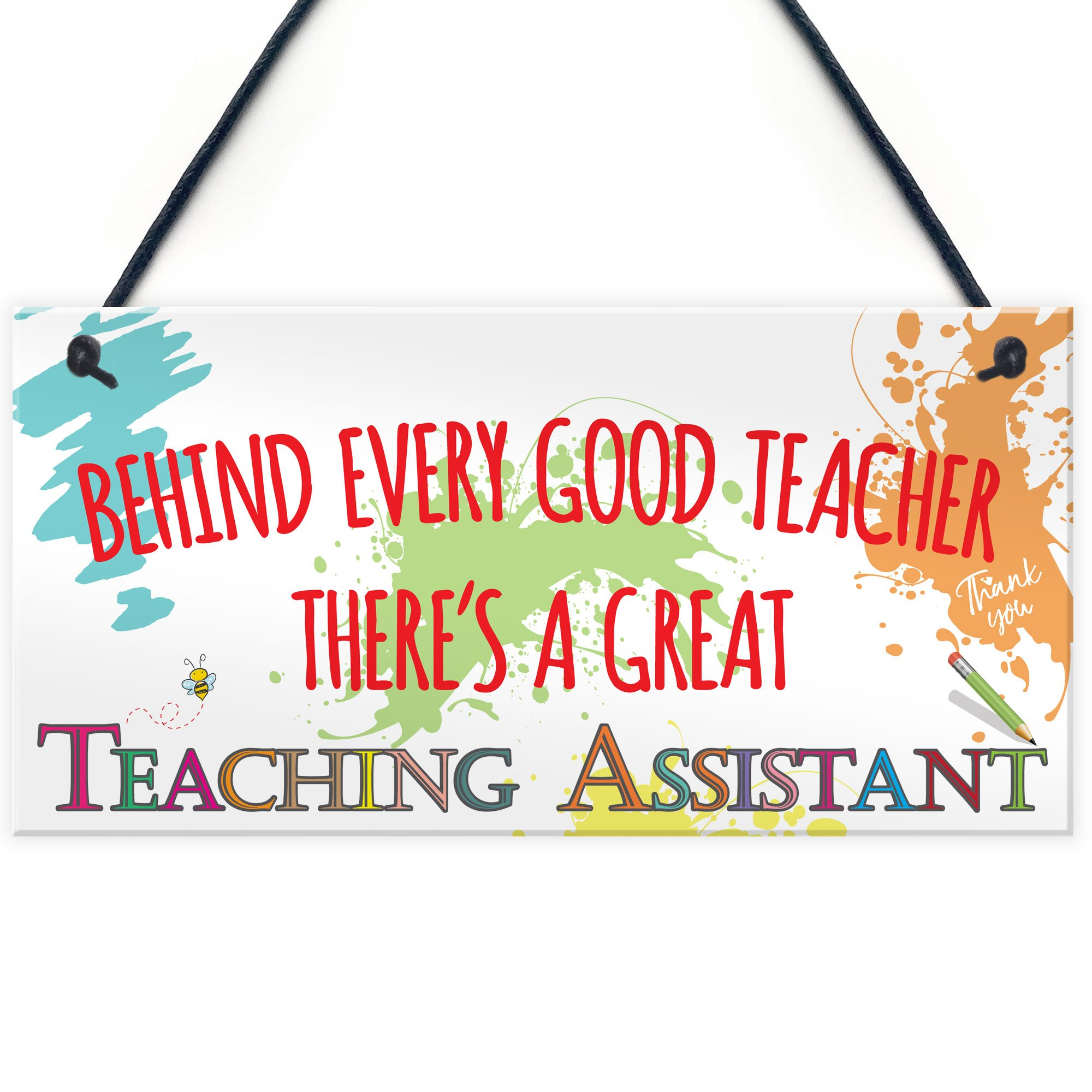 XLD Store Behind Teacher Great Teaching Assistant Hanging Plaque End of Year School Gift