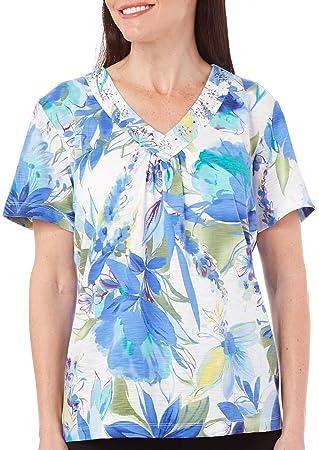 d8b814719ab85c Alfred dunner women coastal breeze floral tops medium jpg 319x450 Dunner  tops alfred dresses
