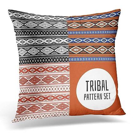 Amazon Sdamase Throw Pillow Cover Black Tribal Pattern Native Impressive Peruvian Decorative Pillows