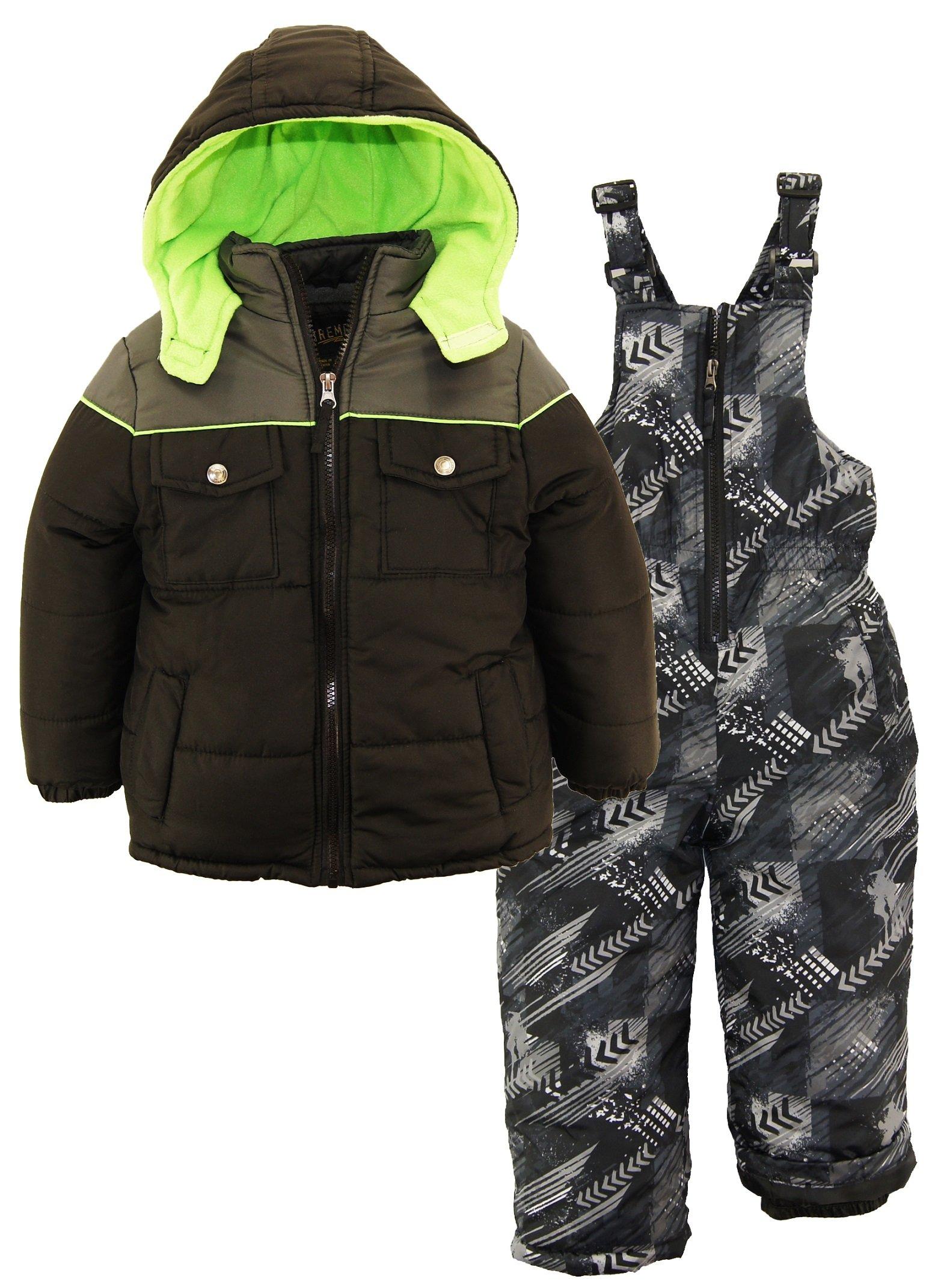 Ixtreme 2-Piece Snowsuit For Boys, Infants & Toddlers – Camo Print Bottoms