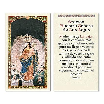 Amazon.com: Nuestra Senora de Las Lajas Tarjeta de Rezo ...