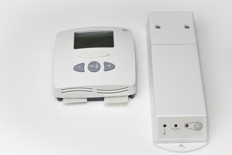 Termostato de ambiente inalámbrico con mando a distancia: Amazon.es: Electrónica