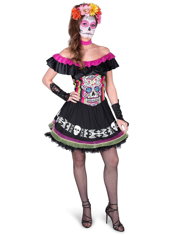 Disfraz Mariachi Día de los Muertos Mujer S: Amazon.es: Juguetes y ...