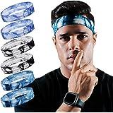 ChenYu Running Headband for Men Non Slip Workout Sweatbands Adjustable Sports Headbands Moisture Wicking Workout Headbands