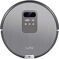 ILIFE V80 Saugroboter mit Wischfunktion | intelligente Navigation | 8cm flach | für alle Böden | über 2 Stunden Laufzeit | 2in1 nass Wischen oder Staubsaugen | automatischer Staubsauger Roboter
