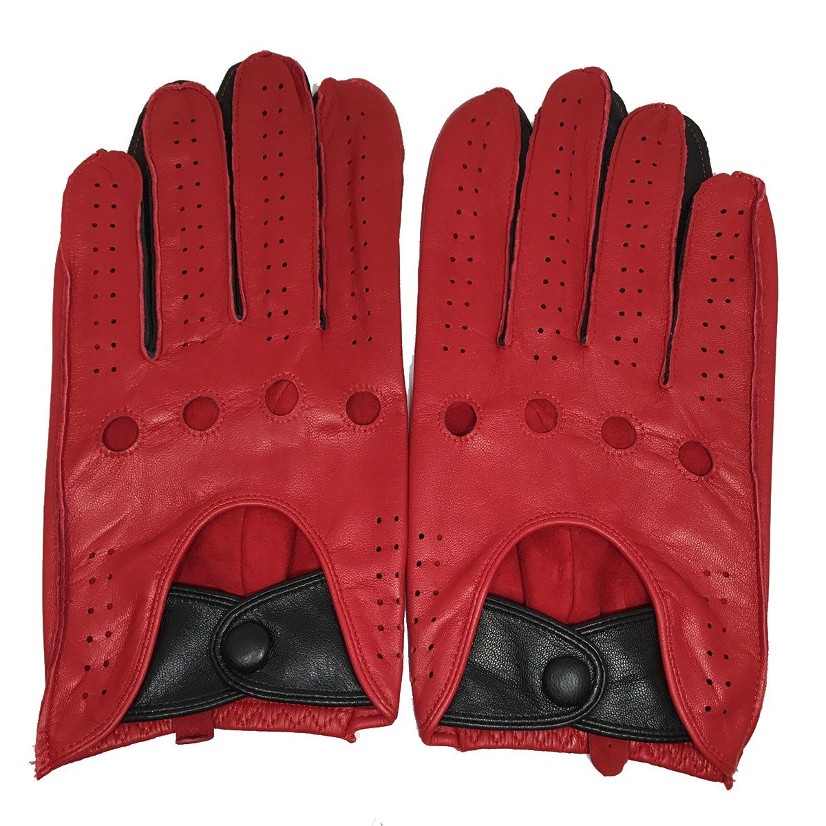 MATSU Men's Soft Motorcycle Driving Leather Gloves Available for Rivets DIY M1047 Matsu Gloves