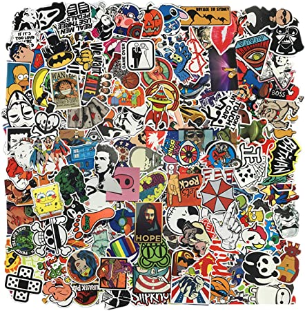 Zelbuck Sticker Pack 300 Stücke Fahrrad Auto Aufkleber Set Wasserdicht Vinyl Graffiti Sticker Für Auto Motorräder Fahrrad Skateboard Gepäck Laptop Aufkleber Macbook Ipad Erwachsene Teenager Auto