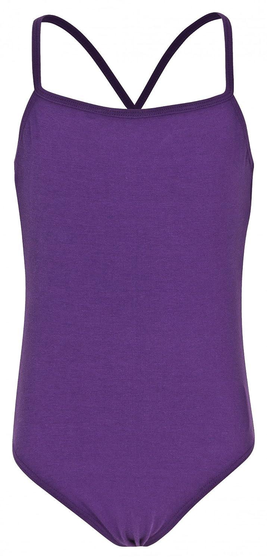 tanzmuster maillot de ballet de tirantes finos 'Leonie' para niñ as en rosa, azul claro, blanco, negro, lila, fucsia, azul marino, borgoñ a y lavanda borgoña y lavanda