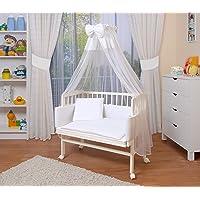 WALDIN Lit cododo berceau tout équipé pour bébé,bois non traité,16 modèles disponibles,Surface de couchage extra large : L 90 x l 55